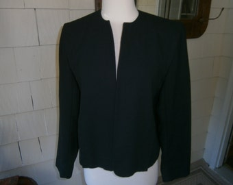 Women's Black Jacket -No buttons