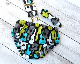 Rock star birthday outfit, boys guitar 1st birthday outfit, punk baby clothes, rock star cake smash outfit, boys 1st birthday outfit