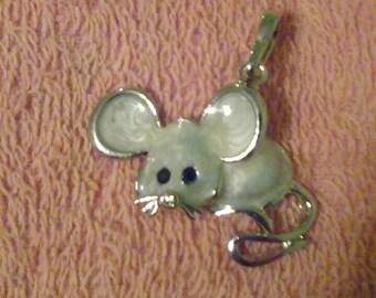 Precious mouse pendant