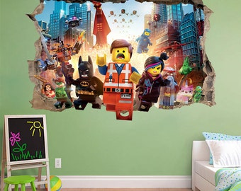 LEGO MOVIE 3d Wall Sticker Smashed Awesome Bedroom Kids Everything Decor  Vinyl Removable Art DECAL Home Part 46