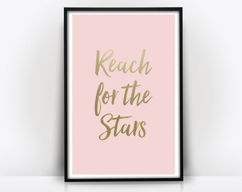 Reach For The Stars - Typography Print