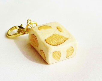 Handmade Miniature Nougat - Polymer Clay Food Charm- Miniature Food Jewelry - Miniature Nougat Charm - Polymer Clay Dessert