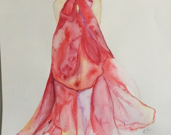 Original Watercolour Fashion 1 Wall Art
