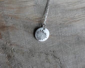 Sea Urchin fine silver charm
