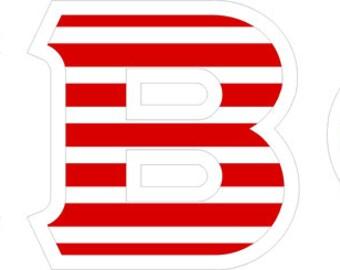 Pi Beta Phi American Flag Giant Greek Letter Sticker