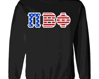 Pi Beta Phi American Flag Twill Crewneck