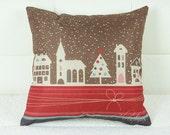 Christmas Burlap Pillows cover,christmas applique designs,christmas apron,christmas applique,christmas angel,christmas advent calendar,