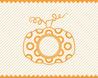Pumpkin Svg Polka Dot for Monogram, Polka dot Pumpkin SVG, DXF Files for Cricut Design Space, Silhouette Studio, Die Cut Machines, Cricut