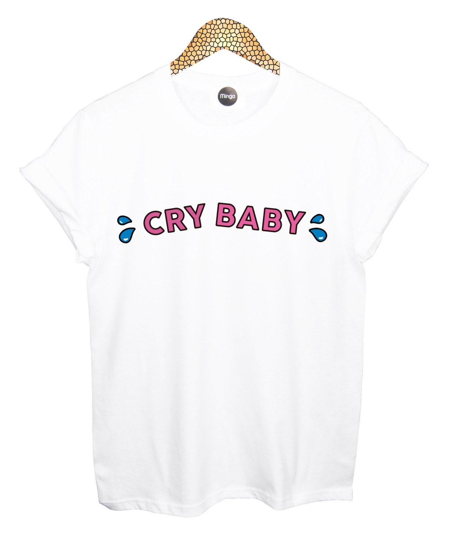 cry baby T SHIRT womens mens Mesdames garçons fille té par MLSHOPSS