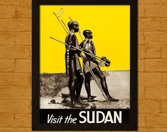 Get 1 Free Print *_* Sudan Travel Poster - Vintage Travel Print Sudan Poster Wall Decor Home Decor Retro Travel Poster