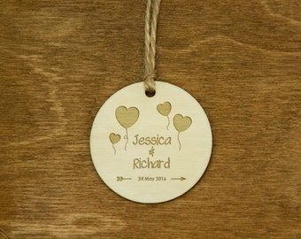 Wedding Gift Tags Wooden Wedding Engraved Tags Custom Personalized Hang Tags Wedding Party Favor Rustic Gift Tags