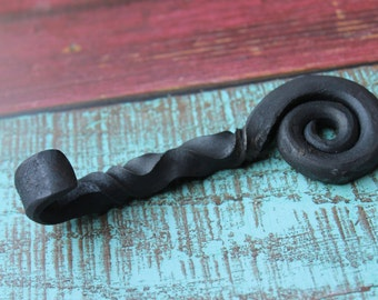 Twisted Scroll Bottle Opener, Hand Forged