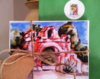 Mission San Miguel notecard set, California Mission, All occasion cards, Holiday cards, Thank you notes, Greeting cards, gift cards