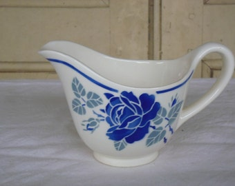 Lovely vintage French milk pitcher with flower pattern – Milk jug – Vintage creamer – Badonviller - Ceramic – Pottery France – Kitchen decor