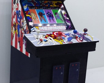 Mini Captain America and the Avengers mini arcade machine model 1/12th scale (6 inches)