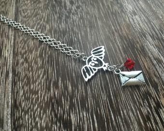Harry Potter Necklace - Hogwarts Acceptance Letter Necklace - Hogwarts Necklace - Harry Potter Gift Idea!