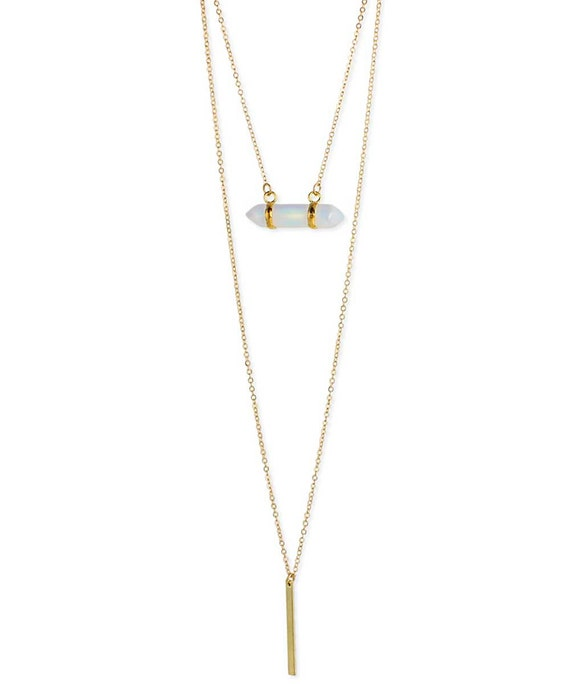 Mystic Stone Layered Necklace Moonstone