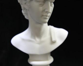 "6.5"" Bust of David Michelangelo Sculpture Statue Figurine Vittoria Collection Made in Italy Italian Art Deco"