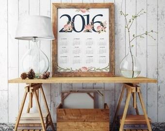 A3 Wall Calendar Template 2016