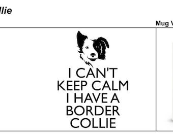 Keep Calm mug Border Collie mg