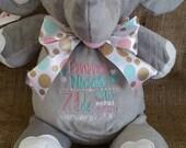 Personalized Elephant Cubbie