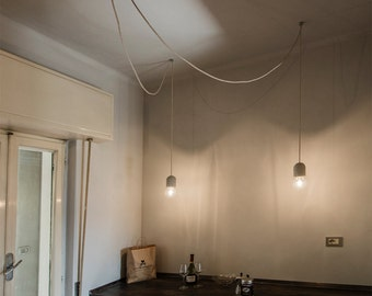 Concrete Pendant Lamp - Multiple concrete pendant lamp - Multiple ceiling light