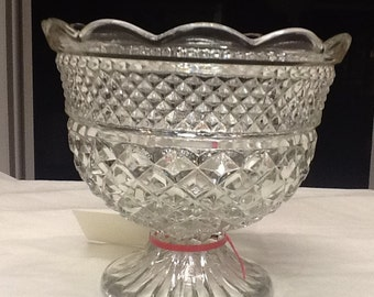 Anchor Hocking Wexford Glass Compote/ServingBowl