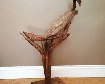Driftwood Bird, Driftwood Sculpture, Driftwood Art, Interior Design, Driftwood Buzzard, Wood Art, Home Decor, Cabin Decor, Cottage Decor