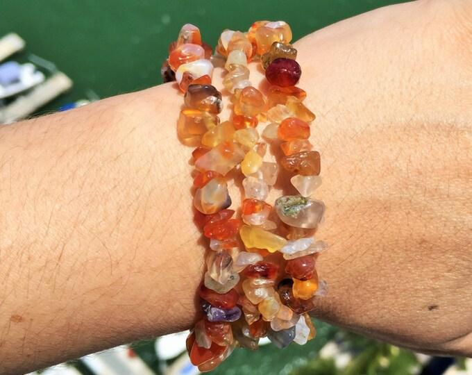 Carnelian Crystal Bracelet / Carnelian Jewelry with Reiki / Chakra Crystals Healing Bracelet / Yoga Gift, Meditation