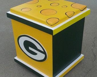 Green Bay Packers football storage box, Packers storage box, Green Bay Packers decoration