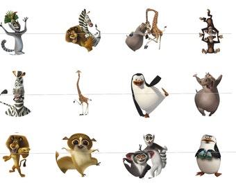 Madagascar Bottle Cap Images Digital Download - 12 images for a 4 x 6 Sheet Size