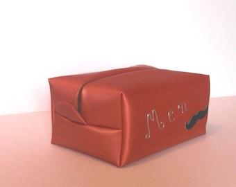 toilet man bag rectangular artificial leather