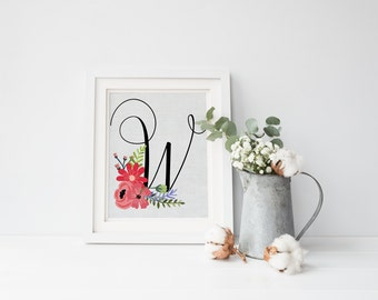 Monogram Art, Monogram Print, Baby Girl Nursery, Letter Art, Nursery Art, Nursery Print, Monogram Art Print, Nursery Monogram, Nursery Decor