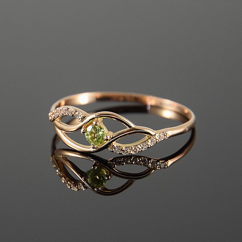 peridot ring cute ring multistone ring fine ring twist