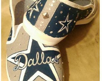 Dallas Cowboys. Mascot. Texas. Painted shoes. custom