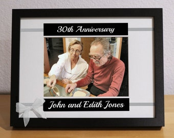 30th Anniversary Gift, 30th Wedding Anniversary, 30th Anniversary Gift for Parents, Custom Picture Frame, Personalized, Anniversary Party