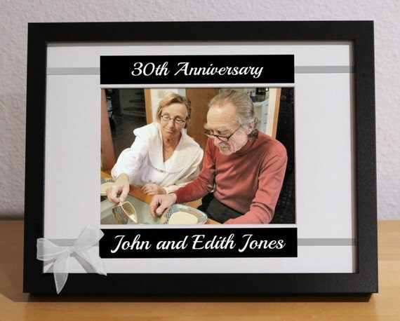 30th Anniversary Gift Wedding For Parents Custom Picture Frame Personalized Party From KimKimDesigns