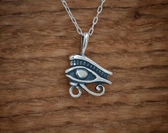 STERLING SILVER Eye of Ra - Eye of Horus Pendant  - Chain Optional