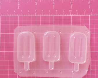 Popsicle Mold, Ice Cream Mold, Kawaii Mold, Ice Cream Cone, Plastic Ice Cream Mold, Resin Supplies