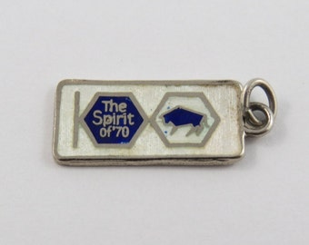 Enameled The Spirit of 70 Sterling Silver Charm or Pendant.