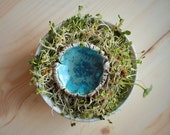 Deep Blue Lake Ceramic Art Jewellery Brooch