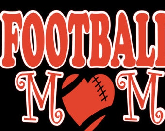 custom FOOTBALL MOM shirt vinyl personalized
