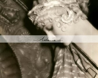 Digital Download Printable Art - Flapper Blond Woman Girl Art Deco Beautiful Antique Vintage Photograph - Paper Crafts Scrapbook Altered Art