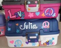 PERSONALIZED Custom Storage Craft Boxes * Beauty * Nail Polish * Pokemon * Rainbow Loom & MORE!