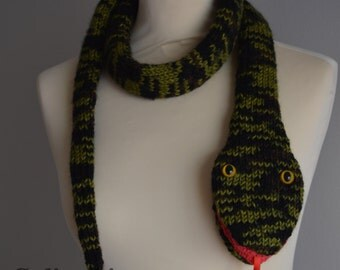 Knit Snake Scarf Animal Scarf