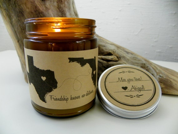 BFF Gift Long Distance Friendship Best Friend Soy Candle Love For
