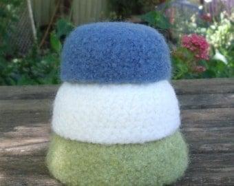 Gorgeous Mini Felted Wool Nesting Bowls  - set of 3