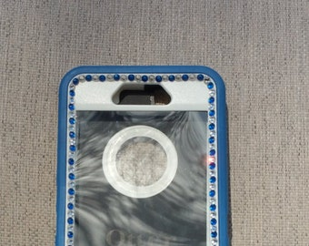 iPhone 6 or 6 PLUS OtterBox defende bling Swarovsk Crystals glitter pretty fashionable sparkly cute Indianapolis Colts cell phone case