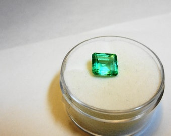 Clean, Neon, 1.50ct. Colombian Emerald Loose Gemstone.