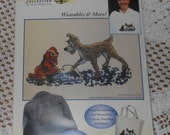 Wearable art, cross stitch, embellishment - Lady and The Tramp Vignette from Thomas Kinkade Co.-